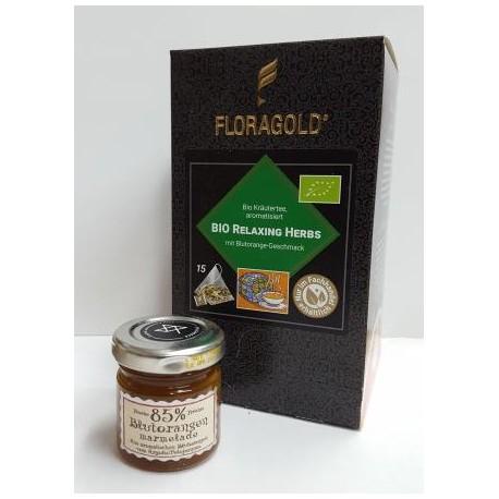Pyr.box Bio Relaxing Herbs +Orangen Marmelade 40g