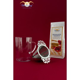 DeLong Granatapfel Set Tee,Glas + Filter