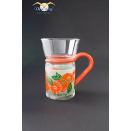 Teeglas Orange 0.2l