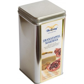 Teedose silber für Etiketten